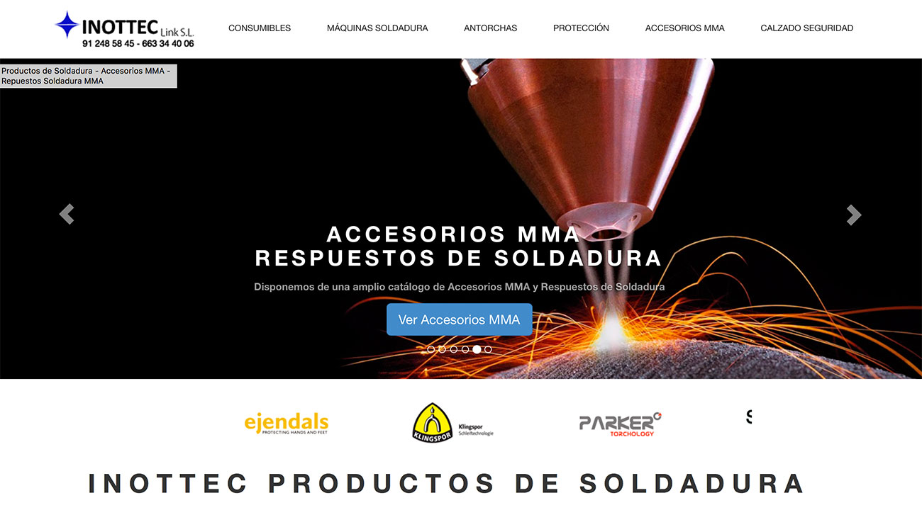 Productos de Soldadura Inottec le damos servicio integral en marketing online